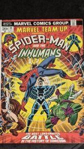 MARVEL TEAM-UP #11 Spider-Man & the Inhumans & Avengers Kang 8.5 VF+ Key Issue
