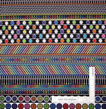 Sew Theme Button Stripe Black Cotton Fabric Kanvas Studio Sew Easy By The Yard