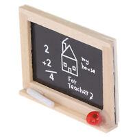 Mini pizarrón modelo casa de muñecas DIY accesorios de habitación de niñosK