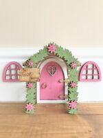 """Pink """"The Tooth Fairy"""" Enchanted Doorway Fairy Door With Windows Gift"""