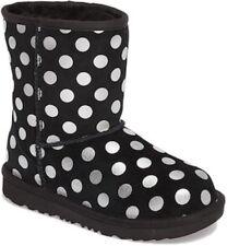 NIB UGG T Classic Metallic Dot Boots Size 6 Toddler Black w/Metallic Dots
