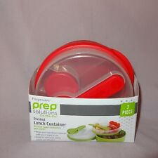 Lunch Container Divided 7 piece Progressive Prep Solutions On the Go Red