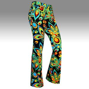 LoudMouth Golf Womens Pants Shagadelic Black Floral Size 6