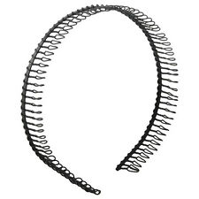 New Practical Black Metal Teeth Comb Hairband Hair Hoop Headband For Woman LW