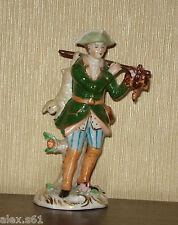 Sitzendorf Thüringen Porzellan Jäger mit Hase Jagd Figur Figuren