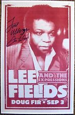 Signed LEE FIELDS Gig POSTER In-Person w/proof Autograph Concert