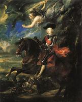 "Oil painting Peter Paul Rubens - The Cardinal Infante horseman in landscape 36"""