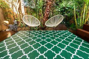 200x270cm MOROCCO Outdoor Plastic Rug Green