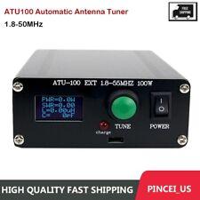 ATU100 Automatic Antenna Tuner 100W 1.8-50MHz w/ 0.96-Inch OLED Display pe66