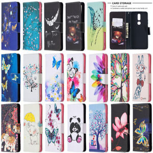 For Nokia 5.4 3.4 2.4 7.2 6.2 Painted Wallet Leather Flip Phone TPU Case Cover