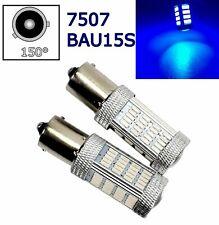 2pcs Blue Rear Turn Signal Light BAU15S 7507 PY21W 92 LED Bulb Lamp A1 LAX