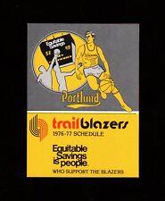 >GEM 1976-77 Portland Trailblazers BASKETBALL POCKET SCHEDULE Championship Year!