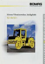 Bomag schwere Vibrationswalzen knickgelenkt 6,5-8,5t Prospekt 2000 11/00