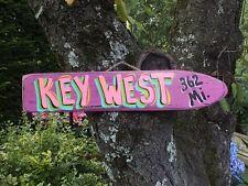 KEY WEST - TROPICAL TIKI DIRECTIONAL DESTINATION ARROW POOL ISLAND POINTER SIGN