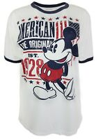 Disney Mickey Mouse American 1928 White Tee Shirt M 38/40