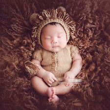 Neugeborene Baby Knit Strick  Fotografie Fotoshooting Löwe Kostüm Mütze Overall