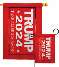 Trump Take America Back 2024 Garden Flag Vote Patriotic Gift Yard House Banner