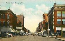 Iowa, IA, Davenport, Second Street 1909 Postcard