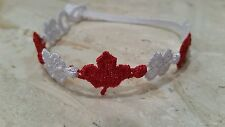 Authentic New Cruciani Flag of Canada bracelet - red and white