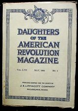 Daughters of the American Revolution Magazine, vol. 57, #5 May 1923 VG+