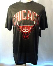 CHICAGO BULLS NBA MEN'S  ** NEW SIZE MEDIUM **GREY & RED ** TEE SHIRT