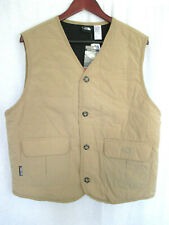 North Face Men's Lightly Quilted Windproof Vest Large Tan Brown NEW WITH TAGS