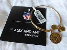 Alex and Ani NFL Houston Texans Logo Wire Adjustable Bracelet Gold New