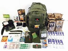 Camping Hiking Backpack, Emergency Disaster get home Backpack, MRE's Water. BOB.