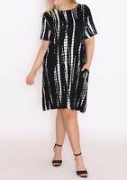 Cotton Village Black Classic Cut dress plus sizes S/M 10-16, M/L 16-20 NWT -7784