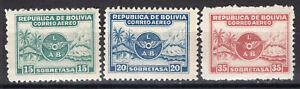 BOLIVIA 1928 AIR MAIL STAMP Sc. # C 8/10 MNH