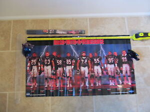VINTAGE CHICAGO BEARS 1987 BACK W/ A VENGEANCE POSTER 36 X 20 MONSTERS OF MIDWAY