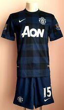 Manchester United 2013 - 2014 Away football Nike shirt and  shorts #15 VIDIC