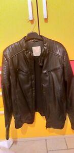 Giubbotto giacca pelle anni 13 14  cm164 Zara boys collection colore nero usato