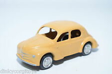 LION CAR LION TOYS RENAULT 4 CV 4CV TAN VERY NEAR MINT CONDITION REPAINT