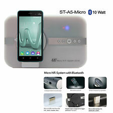 10 Watt Sound System f WIKO Sunny Jerry Lenny 3 Bluetooth Hifi Lautsprecher weiß