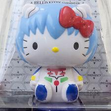 Evangelion × Hello Kitty Rei Ayanami Bobble Head Figure Solar Powered JAPAN