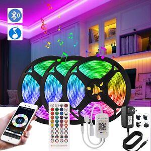100ft LED Strip Lights 5050 Music Sync Lights Bluetooth APP Remote Control White
