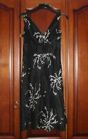 Gorgeous Monsoon Black and White Linen/Silk Mix Dress - Size UK 12 - Worn Once!