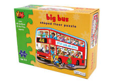 English Big Red Bus Shaped Floor Puzzle Jigsaw Children Toys Giant 15 pieces