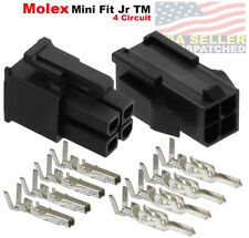 Molex 4 Pin Black Connector Pitch 420mm With18 24 Awg Pin Mini Fit Jr