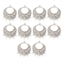 10Pc Tibetan Silver Alloy Pendants Charms Connector Jewelry Crafts Findings