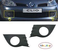 Renault Clio III mk3 2005 - 2009 Avant Pare-chocs Brouillard Calandre Grill Paire Gauche + Droit