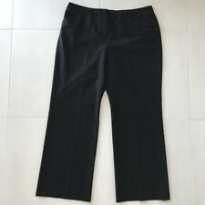 Nicole Miller New York Black Stretch Trouser Pants Sz 18