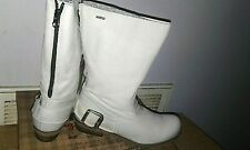 Mtng Originals Bill Hielo off-white Leather mid-calf  SZ 38 (US 7-7.5) BOOTS