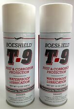2 PACK SPRAY BOESHIELD T.9 RUST CORROSION PROTECTION WATERPROOF CHAIN LUBE 12oz