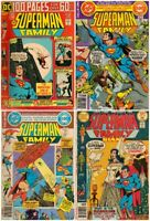 Lot of 4 Superman Family 100 page #166, Giant 181, 68 page 192,198 Various grade