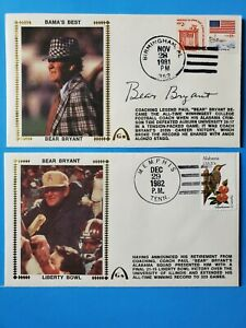 Paul Bear Bryant Autograph Signed Gateway Cachet FDC Envelope First Day Cover