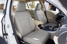 HONDA ACCORD 2013-2016 GREY S.LEATHER CUSTOM MADE FIT FRONT SEAT COVER