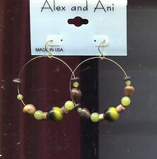 Marble bead earrings Alex & Ani Green