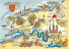 France Province Normandie - Pays de Caux, Map, Landkarte, Carte